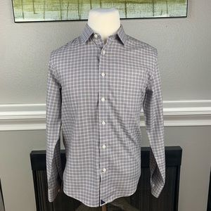 Untuckit White/Red/Blue LS Button Up Shirt sz Med